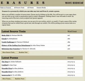 Wave Books erasure tool