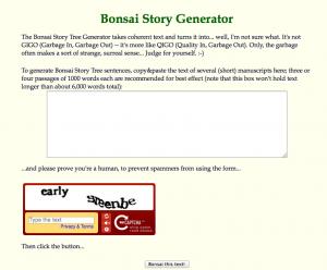 Bonsai Story Generator