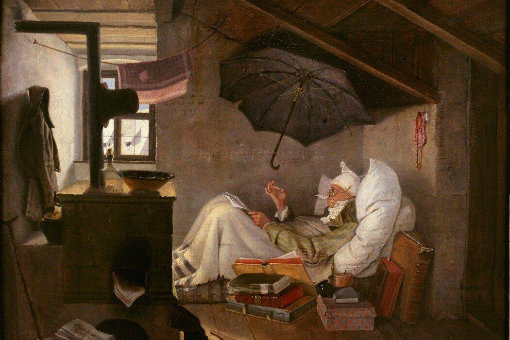 Carl Spitzweg - Der arme Poet (Neue Pinakothek)